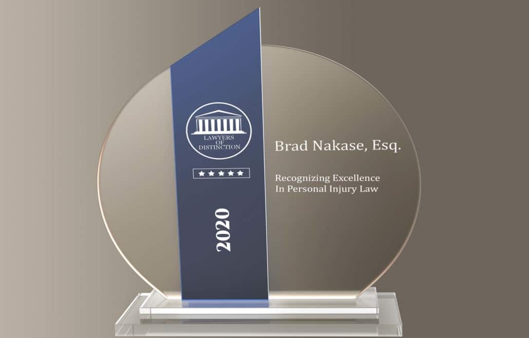 Award Lawyers of Distinction 2020 - Brad Nakase